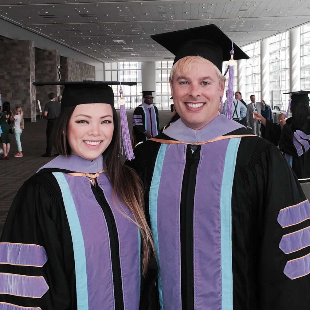 Katelyn and Jason graduating as Fellows of the Academy of General Dentistry.